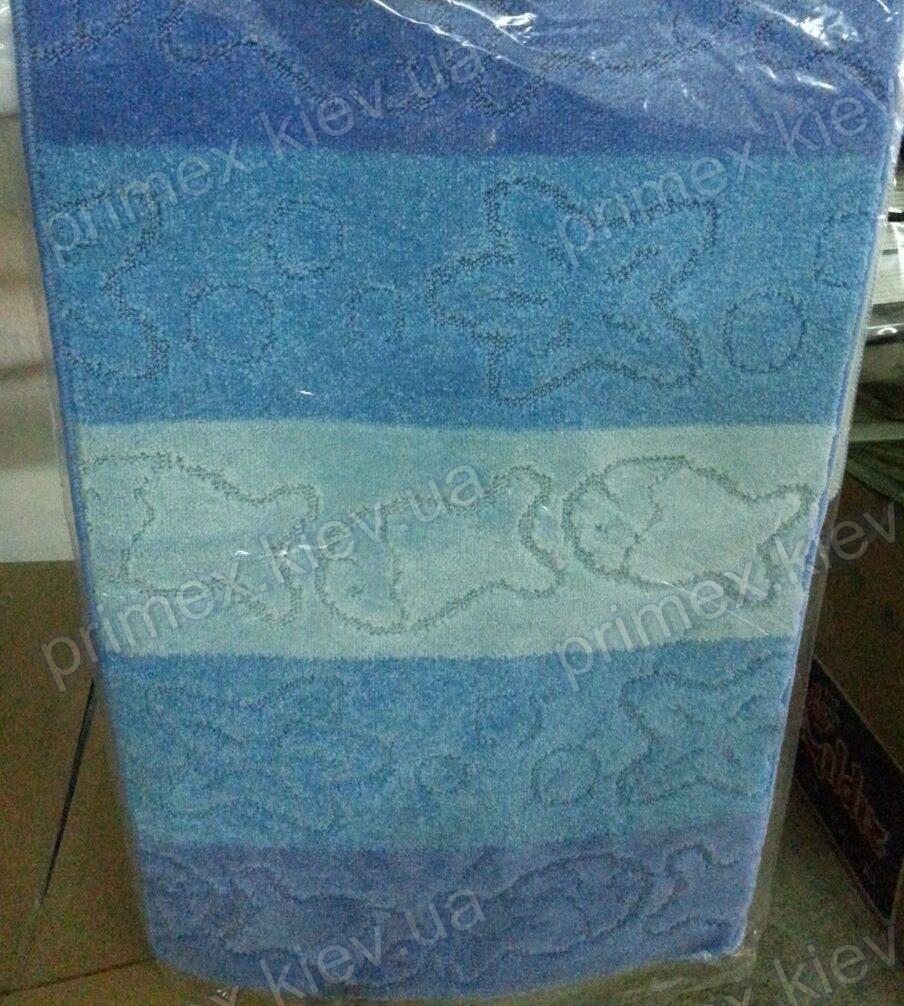 """Набор ковриков для ванной, 60х100 + 60х50см. """"Рыбки и звездочки"""", цвет голубой"""