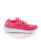 Кроссовки розовые на шнуровке, фото 1