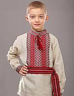 Сорочка для мальчика с тканой нашивкой 0128, фото 1