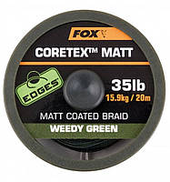 Поводочный материал Fox Edges Coretex Matt Weedy Green 20m 15.0 lb