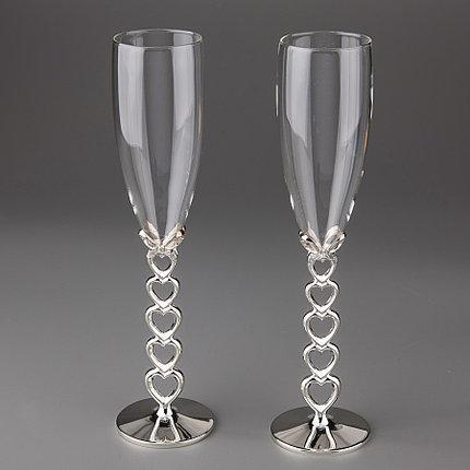 Свадебные бокалы Сердечеки 009G-4