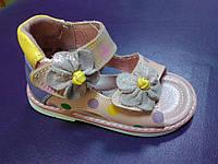 Кожаные ортопедические босоножки 22 р Шалунишка ортопед на девочку, сандалии, горох, босоніжки