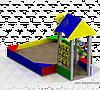 Песочница «Теремок тип 2»