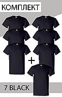 Комплект мужских футболок 6+1=7 Черные Manatki S