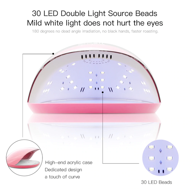УФ лампа UV+LED SUN Rainbow UV 5 на 48 Вт для сушки геля и гель-лака