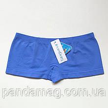 Трусики женские шорты бесшовные светло-синий