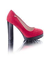 Замшевые туфли на каблуке, фото 1