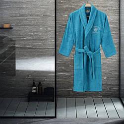 Халат Beverly Hills Polo Club - 355BHP1712 S/M turquoise бірюзовий