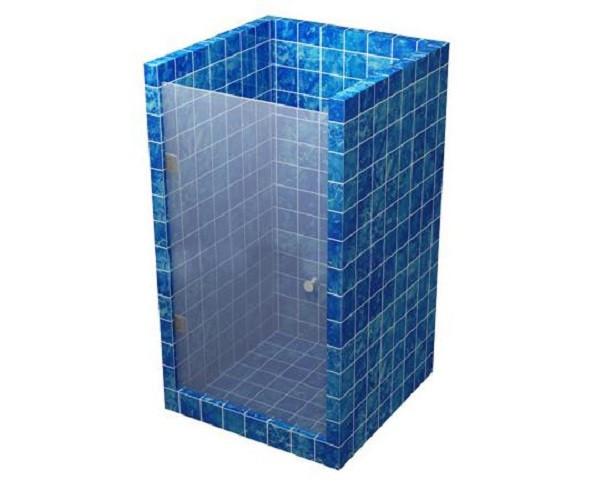 Стеклянная душевая дверь 600*1800 серая