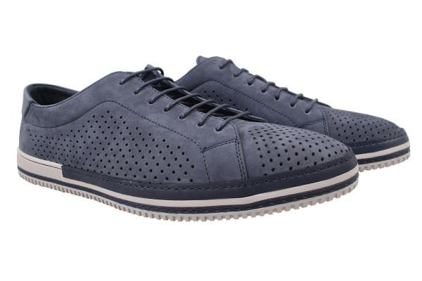 Туфли мужские комфорт Cosottinni натуральный нубук, цвет синий, размер 40-45