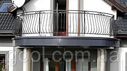 Профиль карниз водоотлив алюминиевый на открытый полукруглый балкон под керамическую плитку