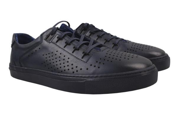 Туфли мужские комфорт Copalo натуральная кожа, цвет синий