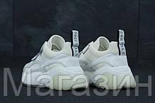Женские кроссовки Stella McCartney Eclypse White Sneakers Стелла МакКартни на липучке белые, фото 2