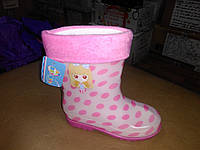 Резиновые сапоги 27-32 р BBT на девочку, сапожки, розовые, горох,  дівчинку, чоботи, гумові