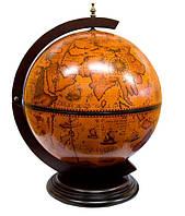 Глобус бар настольный Jia Fo диаметр 40,5 см Вековой (42002R)