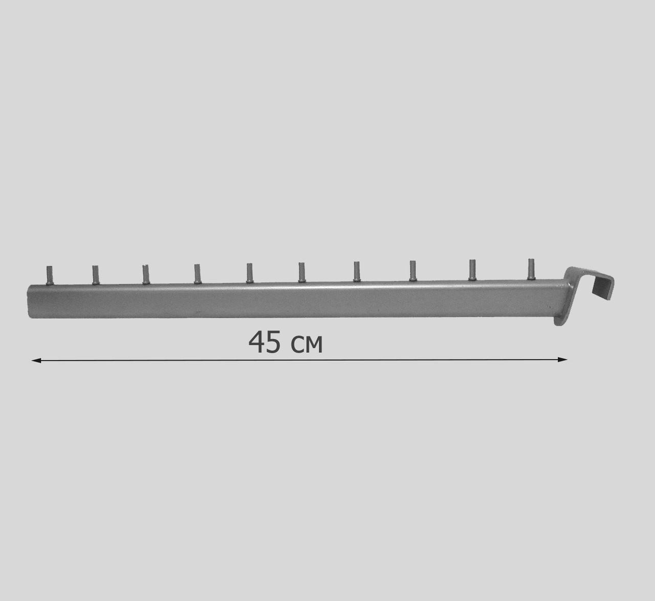 Флейта (кронштейн) серая на прямоугольную перемычку 45 см