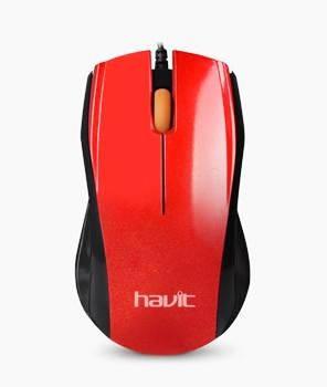 Мышь проводная Havit HV-MS689 red, фото 2