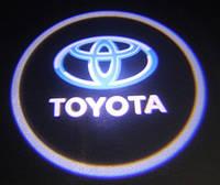 Подсветка дверей врезная с логотипом Toyota