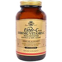 Solgar, Витамин С (как аскорбат кальция Ester C) 1000 мг, 180 таблеток