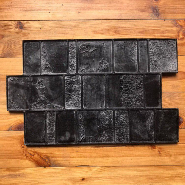 """Резиновый штамп """"Новая Брусчатка"""" для напольной печати по бетону 600*370*10-15 мм"""