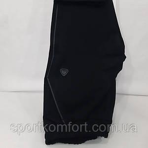 Чоловічі спортивні трикотажні штани SOCCER чорні прямі