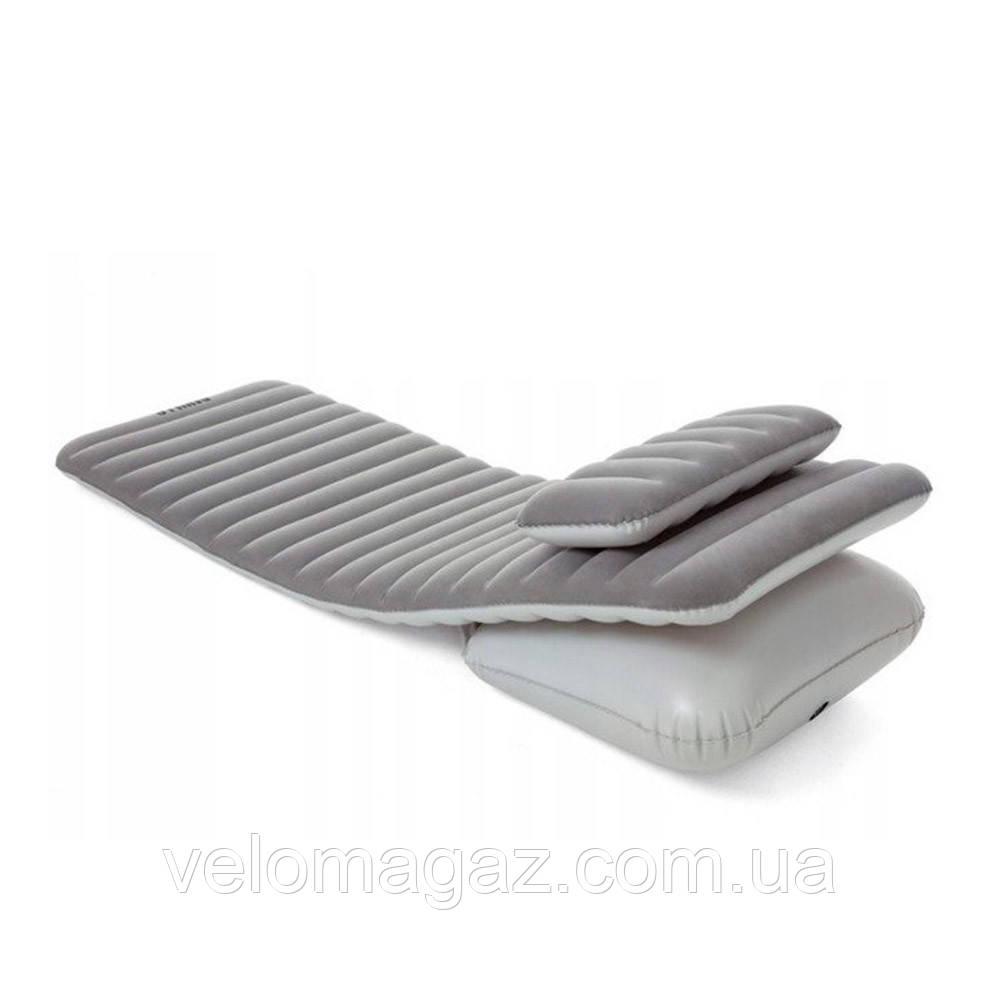 Надувний велюр-матрац (шезлонг) з подушкою 191*70*10,5 см Bestway 67617