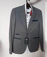 Мужской пиджак приталенный молодежный серый Турция 48-58 рр.