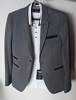 Мужской пиджак молодежный серый