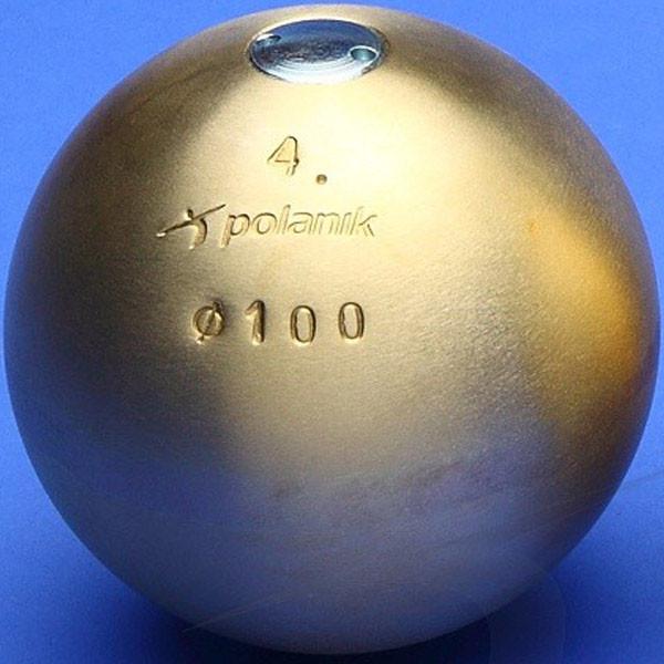 Ядро соревновательное Polanik Brass 4 кг, код: PK-4/100-M