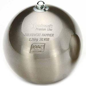 Молот соревновательный Polanik Ziolkowski Silver 7,26 кг, код: ZH-7,26-S