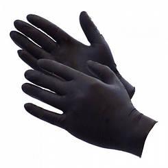 Перчатки нитриловые (черные)
