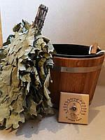 Набор для сауны и бани  (запарник 20 л дуб , веник , термометр), фото 1