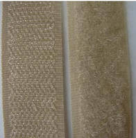 Текстильная застежка (липучка) ширина 20 мм цвет темно-бежевый