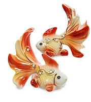 Набір з 2 фарфорових статуеток Золоті рибки VS-413