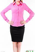 Розовая однотонная рубашка