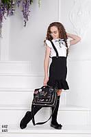 Блуза школьная для девочки без рукав,ткань поликоттон,размеры:134,140,146,152, фото 1