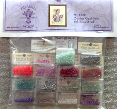 Набор бисера к схеме October Opal Fairy Mirabilia Designs Mill Hill Embellishment Pack