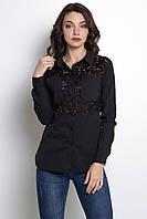 Красивая женская блузка черная ZARINA, фото 1