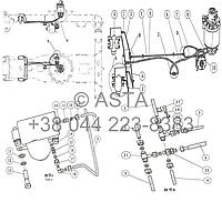 Проводка подвески и стояночного тормоза