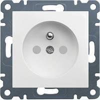 Розетка с заземлением с защитой контактов Lumina-2 16А/230В белая