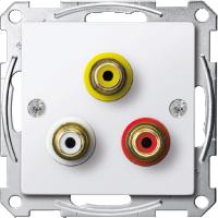 Механизм аудио-видео розетки, активно-белый Shneider Merten(MTN4351-0325)
