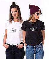 Парные футболки. Футболки для подруг. День/ночь