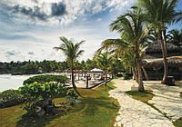 Фотообои - Дорожка под пальмами, 254х184 см 2 листа