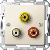 Механизм аудио-видео розетки, бежевый Shneider Merten (MTN4351-0344)