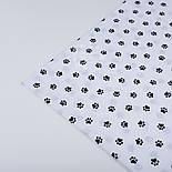 Ткань бязь с маленькими лапками чёрного цвета, № 503а, фото 3