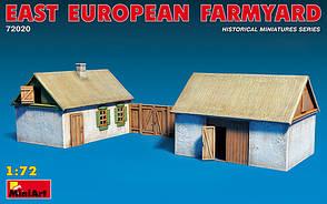 Сборная модель. Восточно-европейский сельский двор. 1/72 MINIART 72030
