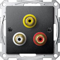 Механизм аудио-видео розетки, антрацит Shneider Merten (MTN4351-0414)