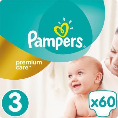 Подгузники Premium Care Размер 3 (Midi) 5-9 кг, 60шт