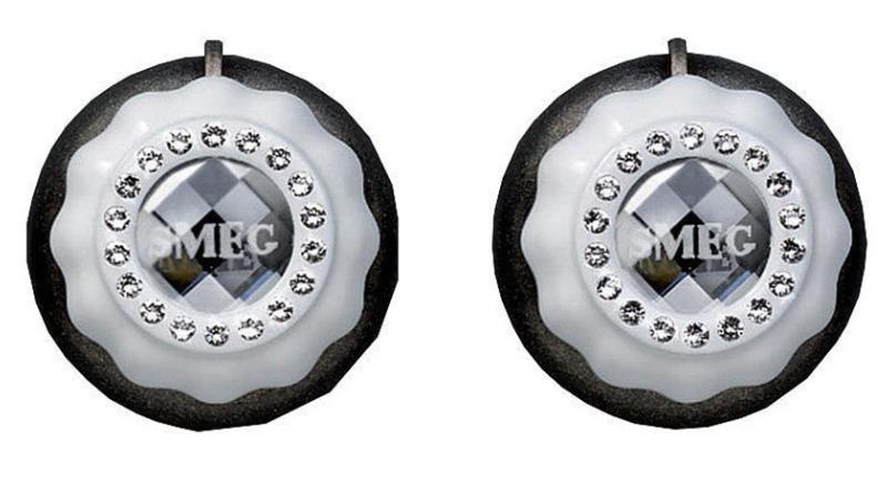 Набор ручек с кристаллами SWAROVSKI для духовых шкафов и компактных приборов Smeg MF700BSL
