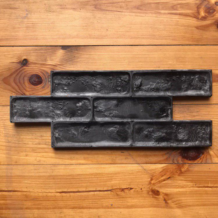 """Резиновый штамп """"Старо-пражский кирпич"""" для настенной печати по бетону и штукатурке 440*170*10-15 мм"""